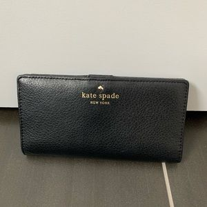 Kate spade black stacy leather wallet